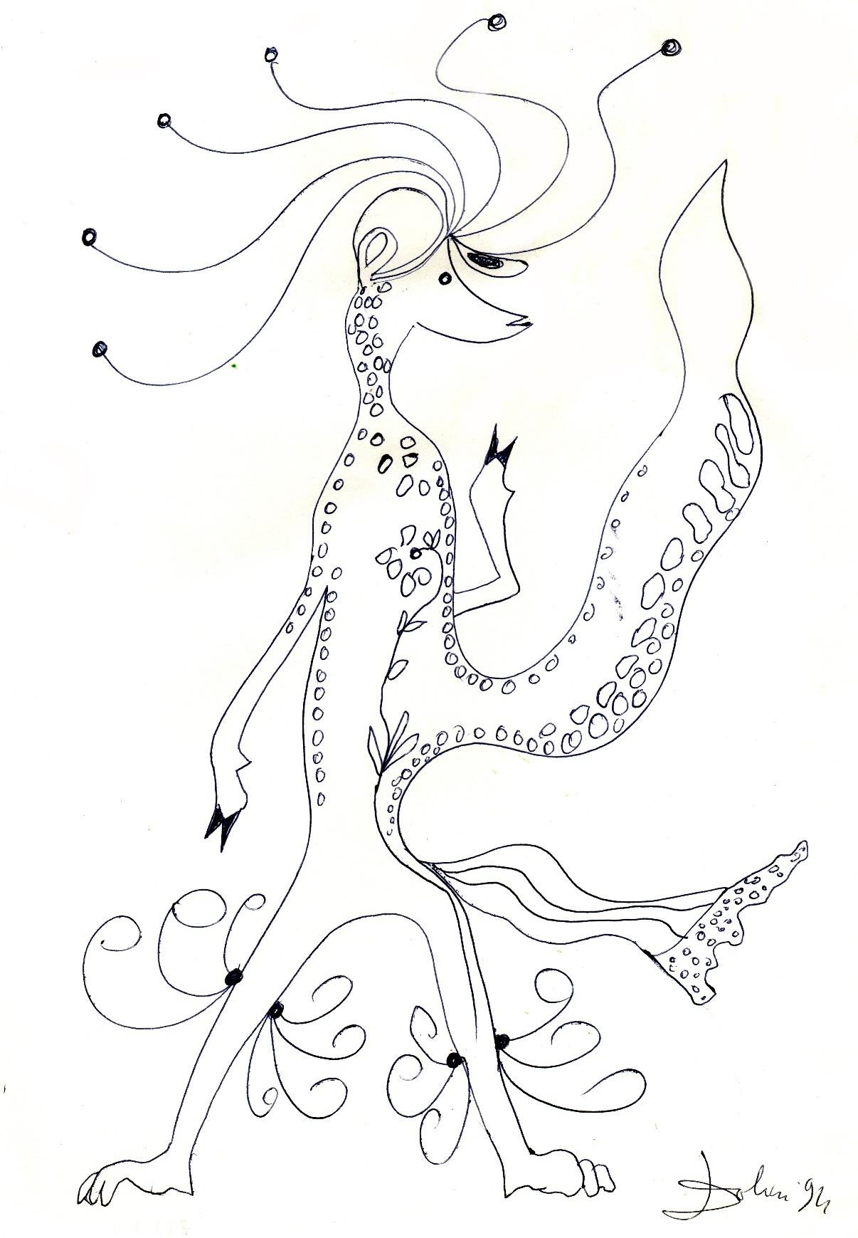 Senza titolo, penna su carta, 1994, cm 29,5 x 21