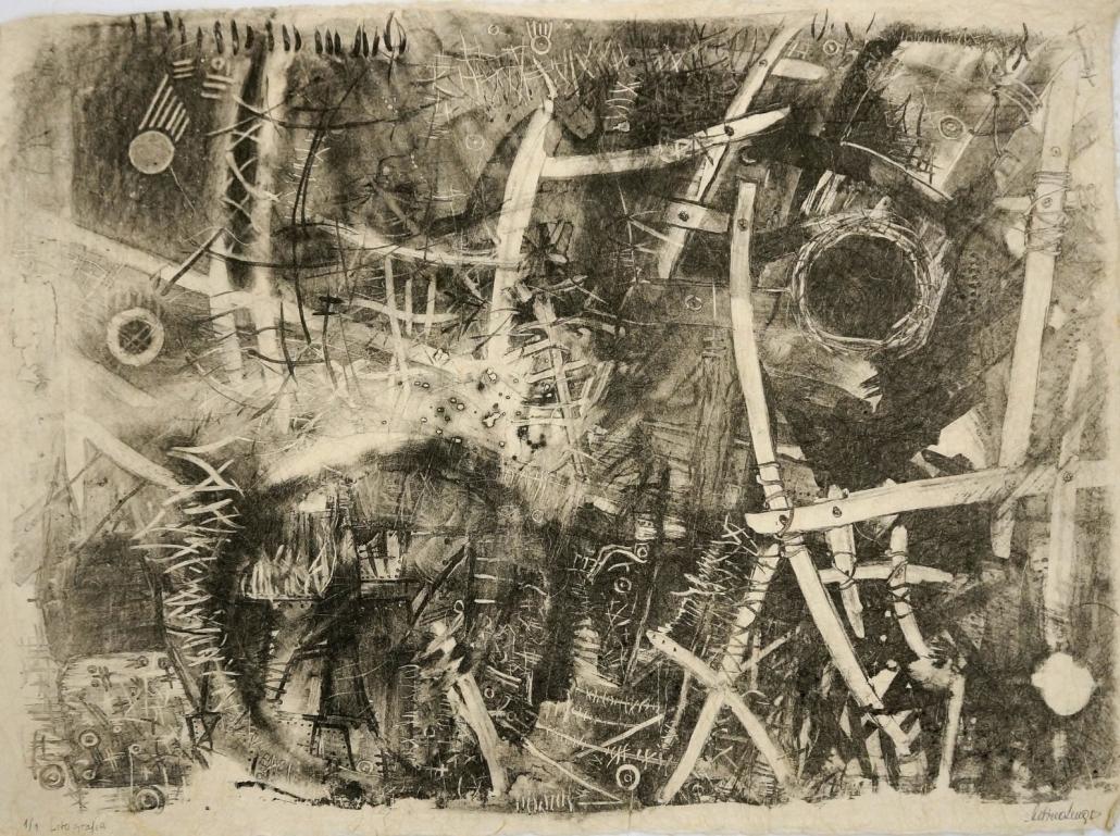 Senza titolo_Litografia_Carta fatta a mano, polpa di cellulosa, inchiostro_cm60x81_sd