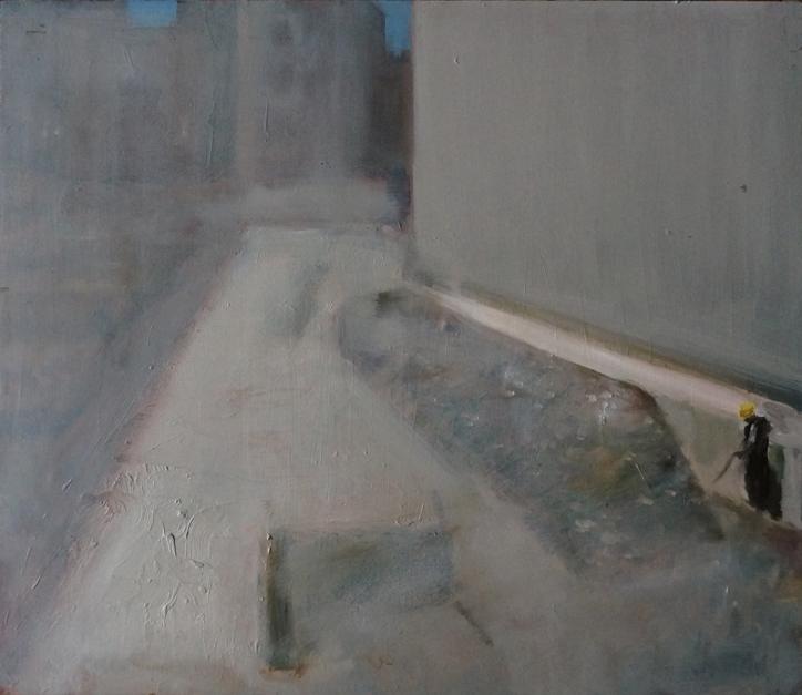 Cantiere_olio su tavola_cm54x63_2018