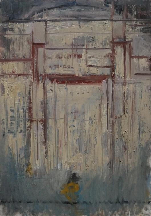 Muro pompeiano_olio su tavola_cm50x35_2020