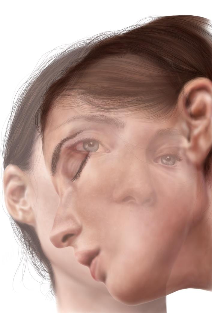 Twins 5.0 - Digital painting - stampa fine art su carta di cotone Hahnemuhle - cm. 100x70 - 2021